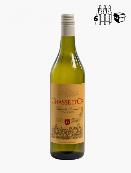 Chasse d'Or Chasselas VP 70 cl P6 - Carton 6
