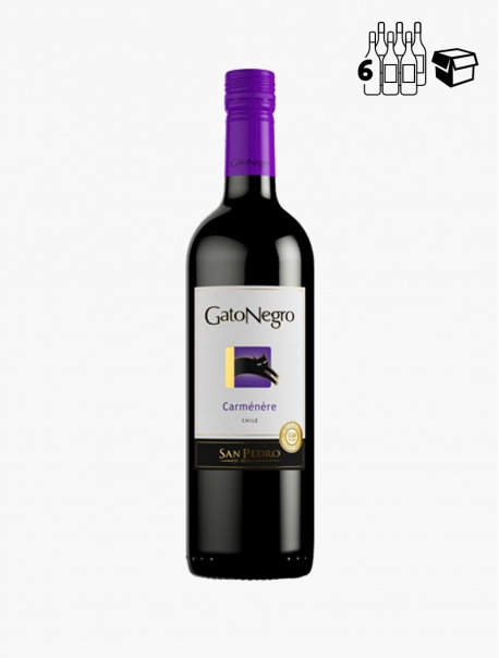 Gato Negro Carménère VP 75 cl P6 - Carton 6