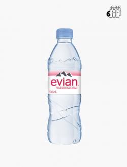 Evian PET 50 cl P6