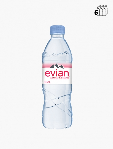 Evian PET 50 cl P6 - Pack 6