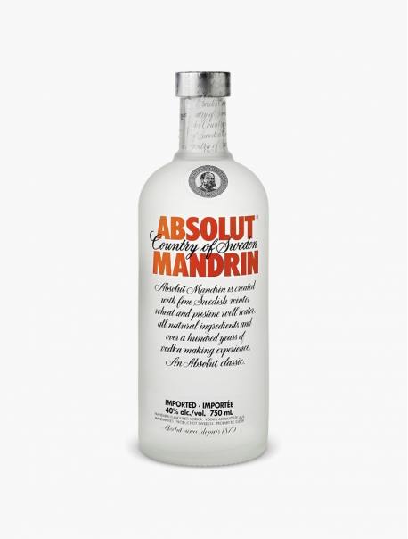 Vodka Absolut Mandarine VP 70 cl U - Pièce