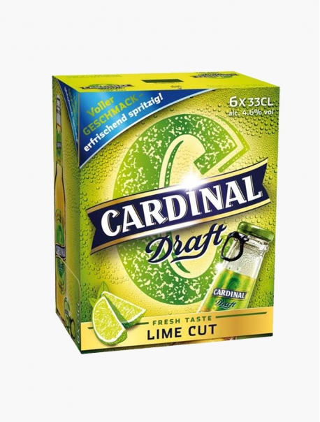 Cardinal Draft Lime VP 33 cl P6 - Pack 6