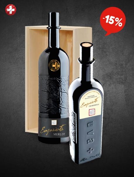 Merlot Chardonnay Coffret Bois VP 75 cl P2